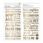 Pebbles - The Avenue - Thickers Gold Foil Puffy Phrase Stickers (736962)